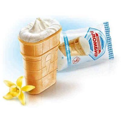 Мороженое Колибри 'ФЛЯЖКА' пломбир Колибри в вафельном стаканчике