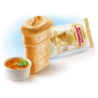 Мороженое Колибри 'ФЛЯЖКА' крем-брюле в вафельном стаканчике