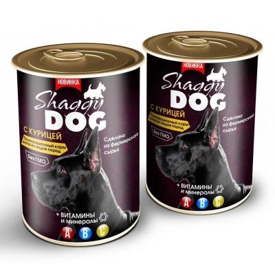 Корм консервированный для собак 'Shaggy Dog' паштет с курицей