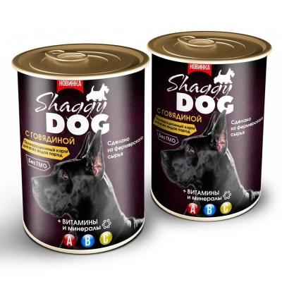 Корм консервированный для собак 'Shaggy Dog' паштет с говядиной