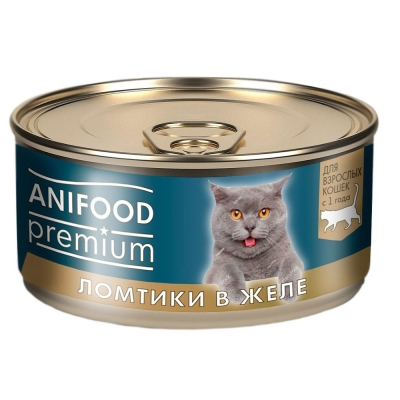 Корм консервированный для кошек 'ANIFOOD premium' ломтики в желе с курицей
