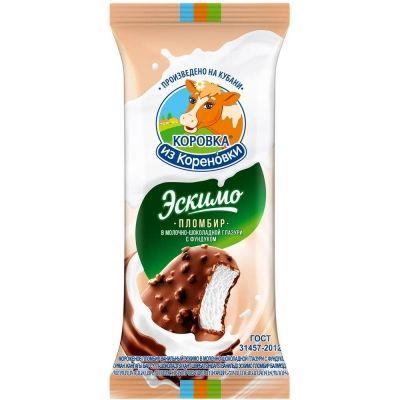 Мороженое 'Коровка из Кореновки' с фундуком эскимо