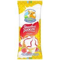 Мороженое Коровка из Кореновки Здоровый рожок клубничный джем