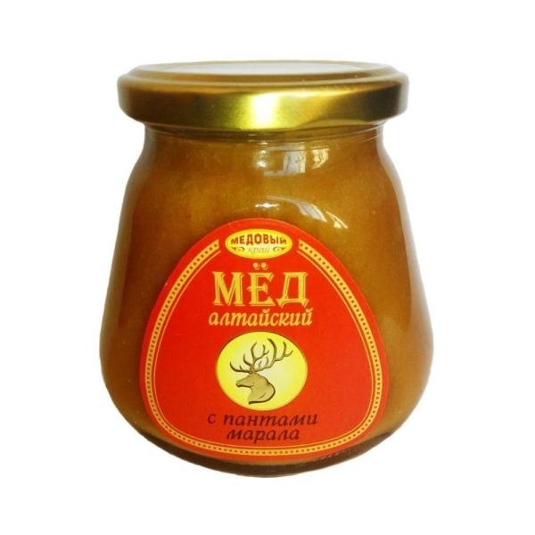 Алтайский мёд с пантами марала натуральный цветочный