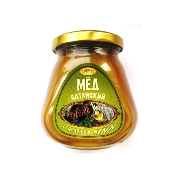Алтайский мёд с кедровой живицей натуральный цветочный
