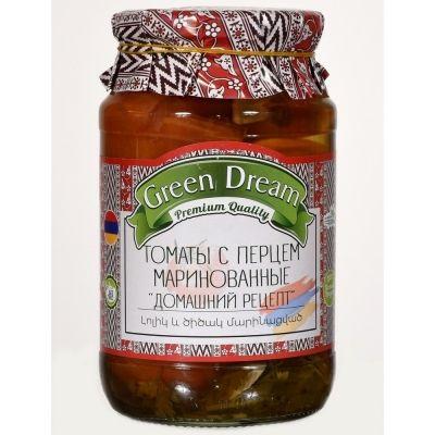 Помидоры маринованные Green Dream с перцем 'Домашний рецепт'