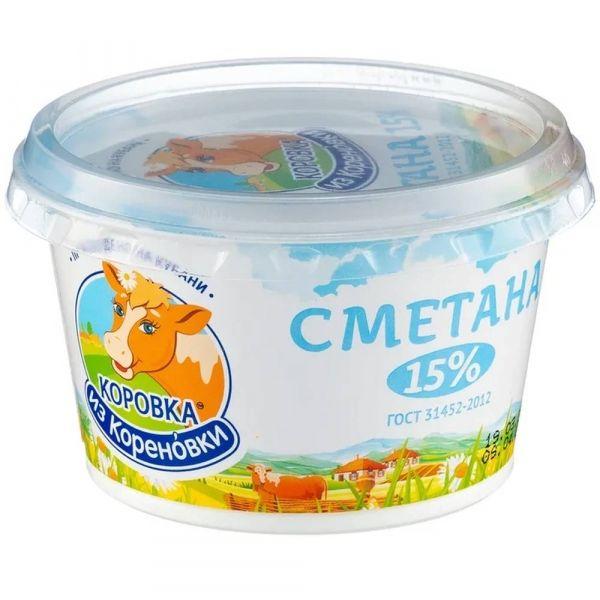 Сметана Коровка из Кореновки 15%