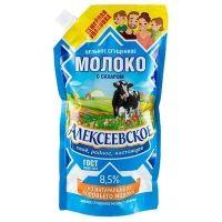 Молоко цельное сгущенное Алексеевское с сахаром 8,5% дойпак