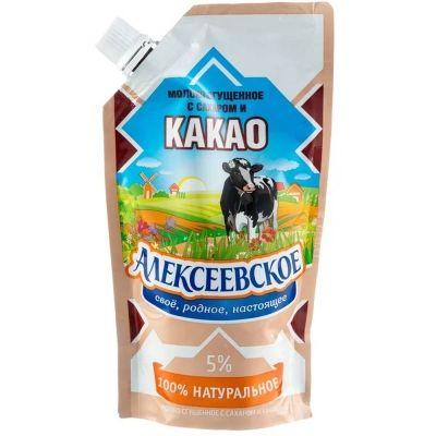 Молоко сгущенное Алексеевское с сахаром и какао 5%