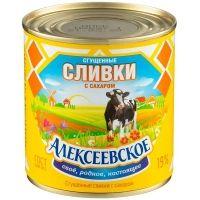 Сливки сгущенные Алексеевское с сахаром 19%
