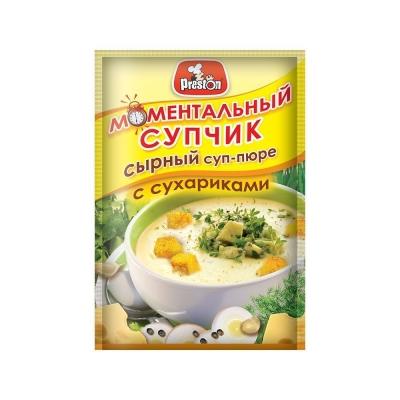 Крем-суп 'Preston' сырный с сухариками