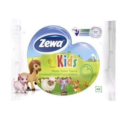 Туалетная бумага ЗЕВА Детская влажная 42шт