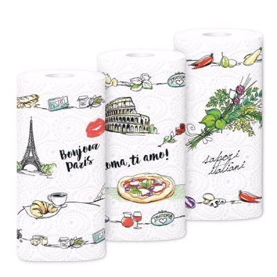 Бумажные  полотенца ЗЕВА с рисунком 2-х слойные 2 шт