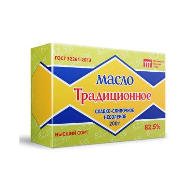 Масло сладко-сливочное несоленое Традиционное 82,5%