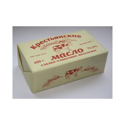 Масло сладко-сливочное несоленое Крестьянское 72,5%