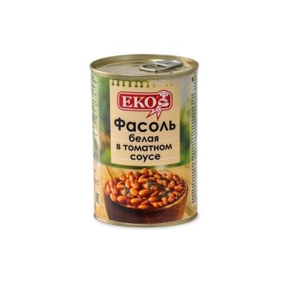 Фасоль 'ЕКО' белая в томатном соусе
