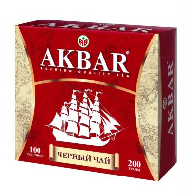 Чай Акбар черный байховый мелкий 100пак.'Корабль'