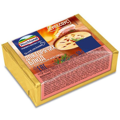 Сыр плавленый 'Hochland' с копченым мясом для супа и соуса блочки