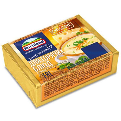 Сыр плавленый 'Hochland' Сливочно-сырный для супа и соуса блочки