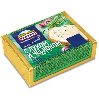 Сыр плавленый 'Hochland' Лук-чеснок блочки