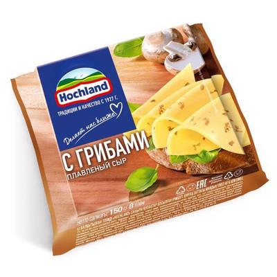 Сыр плавленый 'Hochland' с Грибами ломтиками