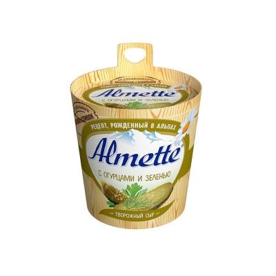 Сыр творожный 'Almette' с огурцами и зеленью