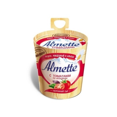 Сыр творожный 'Almette' с томатами по-итальянски