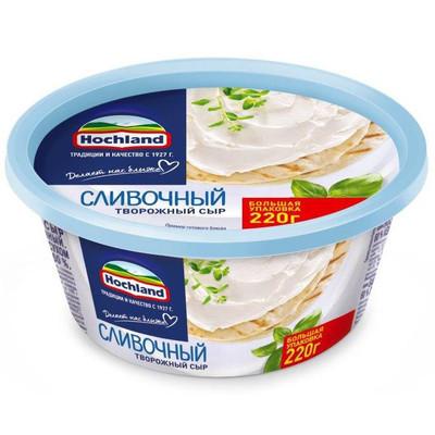Сыр творожный 'Hochland' Сливочный
