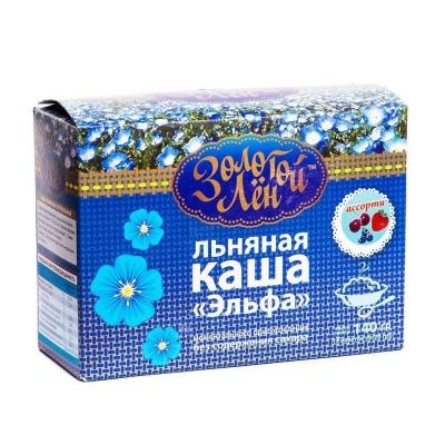 Льняная каша Эльфа 'Золотой Лён' Ассорти - натуральная + 6 вкусов