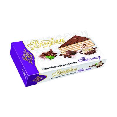 Торт шоколадно-вафельный 'Вкуснель' Тирамису