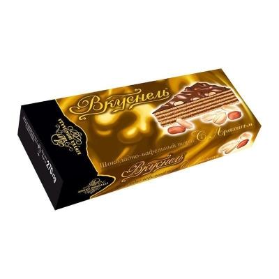 Торт шоколадно-вафельный 'Вкуснель' с Арахисом
