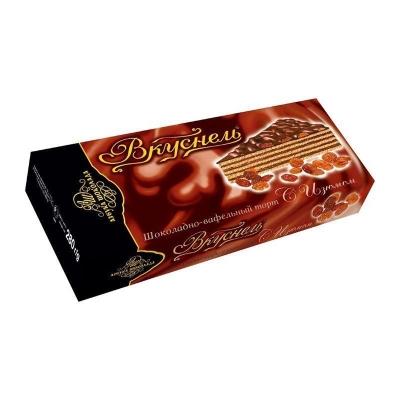 Торт шоколадно-вафельный 'Вкуснель' с Изюмом