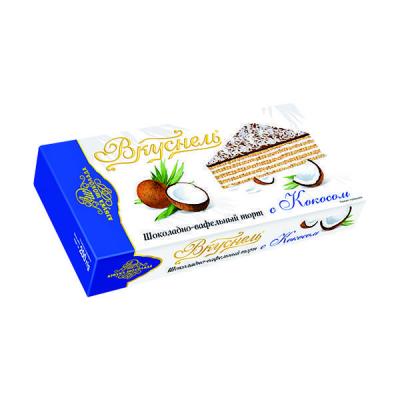 Торт шоколадно-вафельный 'Вкуснель' с Кокосом