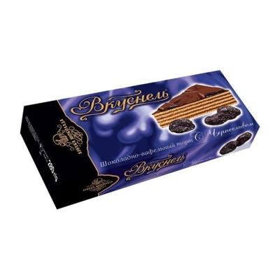Торт шоколадно-вафельный 'Вкуснель' с Черносливом