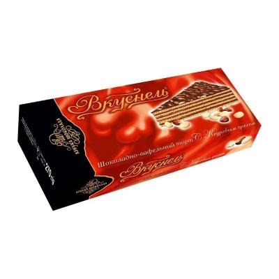 Торт шоколадно-вафельный 'Вкуснель' с Кедровым орехом