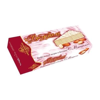 Торт вафельный 'Вкуснель' в йогурте с Миндалём