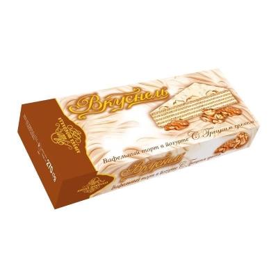 Торт вафельный 'Вкуснель' в йогурте с Грецким орехом