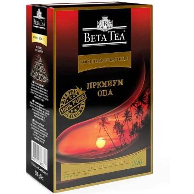 Чай Бета Чай черный Королевское качество Премиум ОПА картон