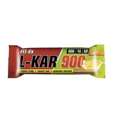 Батончики 'FIT-Rx' L-KAR 900 глазированный попкорн