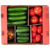 Овощи свежие Долина овощей Микс 1 (огурец короткоплодный и среднеплодный, томат стандартный и сливовидный, черри)