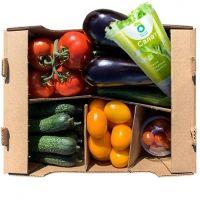 Овощи свежие Долина овощей Микс 5 (баклажан, томат сливовидный, томат на ветке, огурец короткоплодный и среднеплодный, свежий салат и черри)