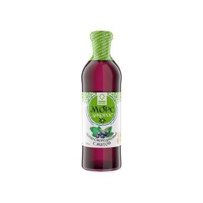 Морс ягодный из сока прямого отжима 'Дикорос' Черносмородиновый с мятой