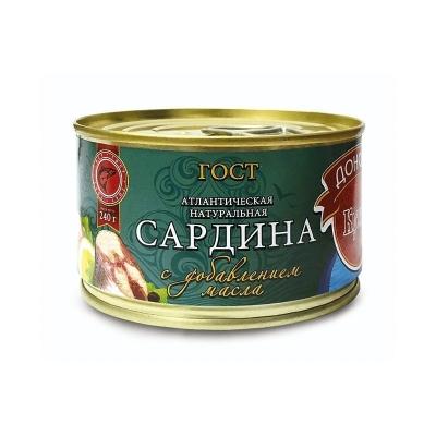 Сардина атлантическая 'Донская Кухня' в масле