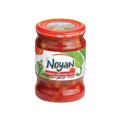 Бамия в томатном соусе 'Noyan' с острым зеленым перцом