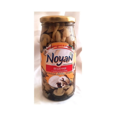 Вешенка маринованная 'Noyan' с шампиньонами