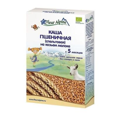 Каша на козьем молоке 'Fleur Alpine' ORGANIC пшеничная (спельтовая) с 5 месяцев