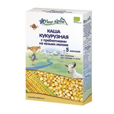Каша на козьем молоке 'Fleur Alpine' ORGANIC кукурузная с пребиотиками с 5 месяцев