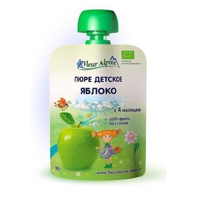Пюре детское 'Fleur Alpine' ORGANIC яблоко с 4 месяцев