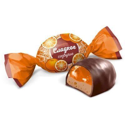 Конфеты Конти Сладкое созвучие вкус апельсин с шоколадом