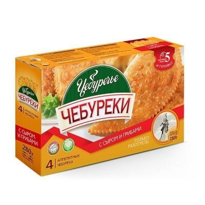 Чебуреки 'Чебуречье' с сыром и грибами замороженные (только разогреть)